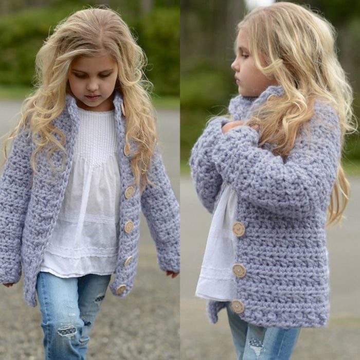 Extreme Stylish Cardigan Coat for Toddler Girls