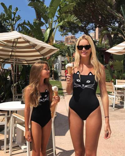 Family Matching One piece Swimsuit with Animal print