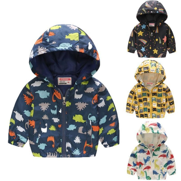 Fashion Polyester hooded Jackets with Full Sleeve for Baby Boys