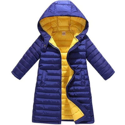 Fashion Thick Zippered Unisex Winter jacket for Kids - Deep Blue / 2-3 years