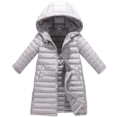 Fashion Thick Zippered Unisex Winter jacket for Kids - Gray / 2-3 years