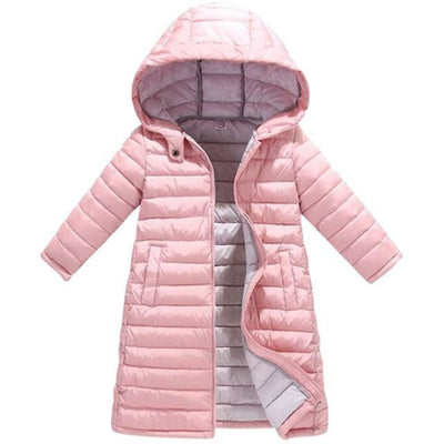 Fashion Thick Zippered Unisex Winter jacket for Kids - Pink / 2-3 years