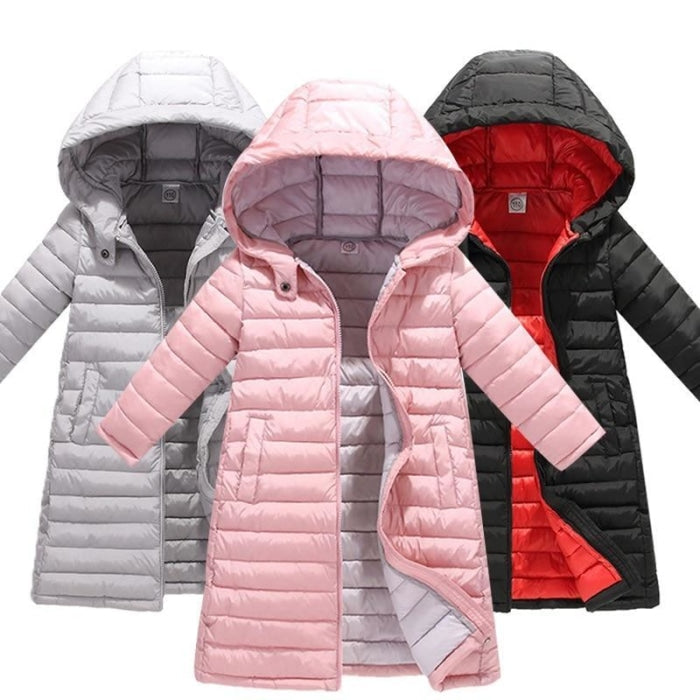Fashion Thick Zippered Unisex Winter jacket for Kids