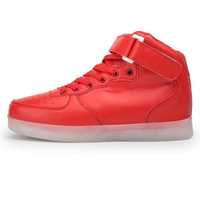 Fashionable Extreme Comfort Shoes with LED USB charging Girls - Red / 11