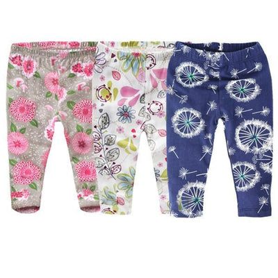 Floral 3 Pc Leggings set Baby girls - Skinny fit 2 / 1-3 months