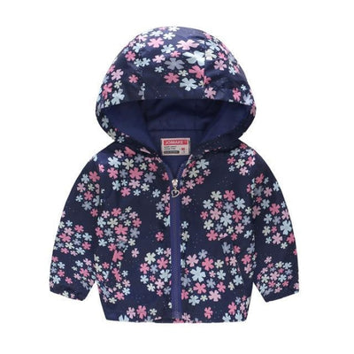 Floral Animal theme Jackets for Girls - snow / 18-24 months