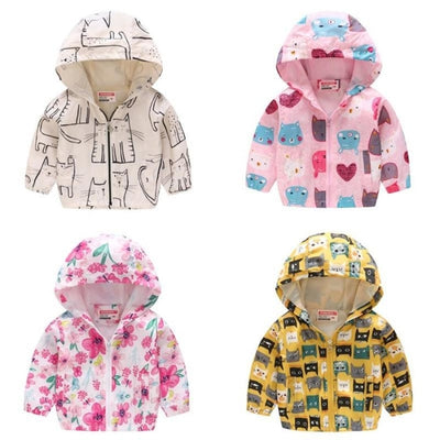 Floral Animal theme Jackets for Girls