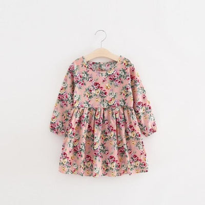 Floral pattern Cotton dress Girls - Pinkfloral / 18-24 months