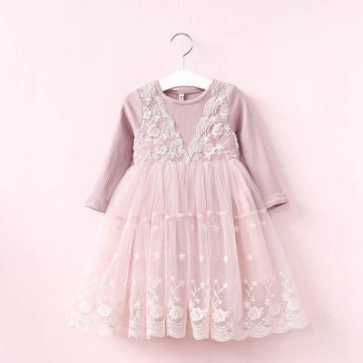 Floral Printed Children Toddler Party Dress - Pink / 3-4 years