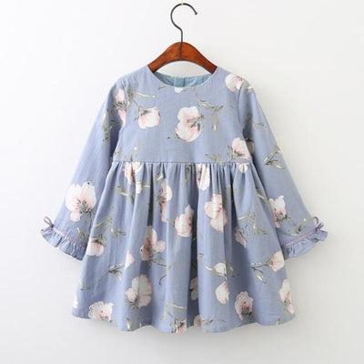 Floral Printed Children Toddler Party Dress