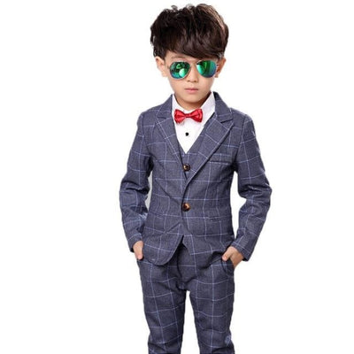 Full Blazer Tuxedo Suit Set for Boys - Gray / 18-24 months