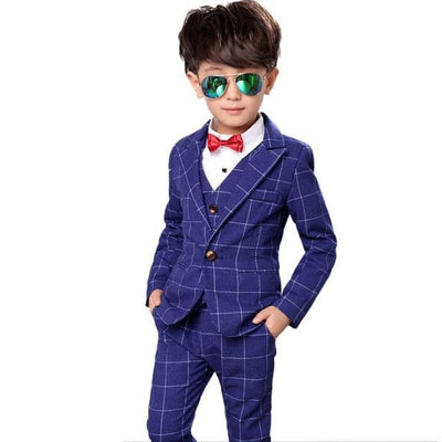 Full Blazer Tuxedo Suit Set for Boys - Navy Blue / 18-24 months