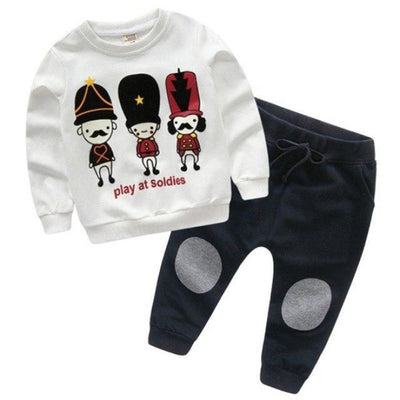 Full Sleeve Autumn Unisex Clothing Set - White / 18-24 months
