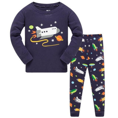 Full Sleeve Cotton Cartoon Unisex Pajamas - Black / 2-3 years
