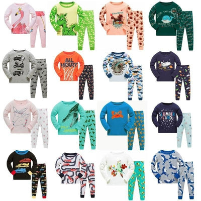 Full Sleeve Cotton Cartoon Unisex Pajamas