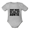 Fun Auntie Baby Onesie Unisex - heather gray