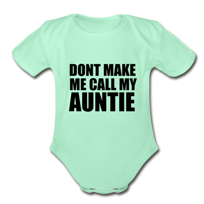 Fun Auntie Baby Onesie Unisex - light mint