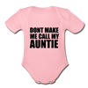 Fun Auntie Baby Onesie Unisex - light pink