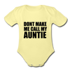 Fun Auntie Baby Onesie Unisex - washed yellow
