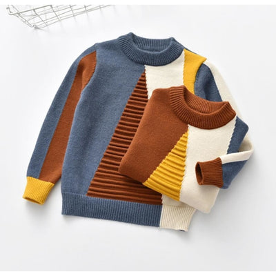 Geometric Pattern Winter Sweater for Kids Unisex