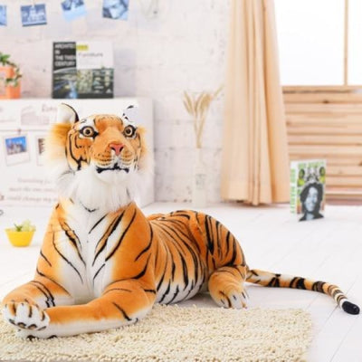 Giant Stuffed Plush Tiger Toy - 90 cm / yellow