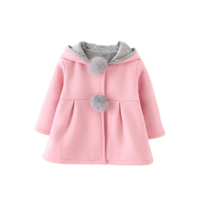 Girls Long Sleeve Coat Jacket Baby Casual Outerwear - Pink / 3-4 years