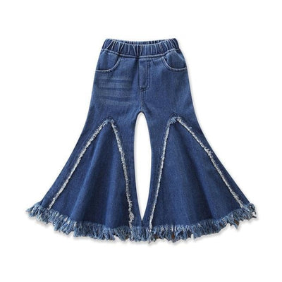 Girls Retro Bell-bottomed Casual Jeans