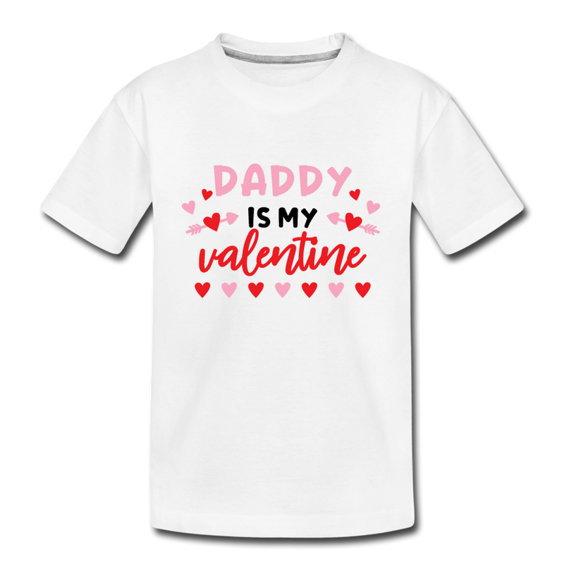 Girls T Shirt Daddy is my Valentine