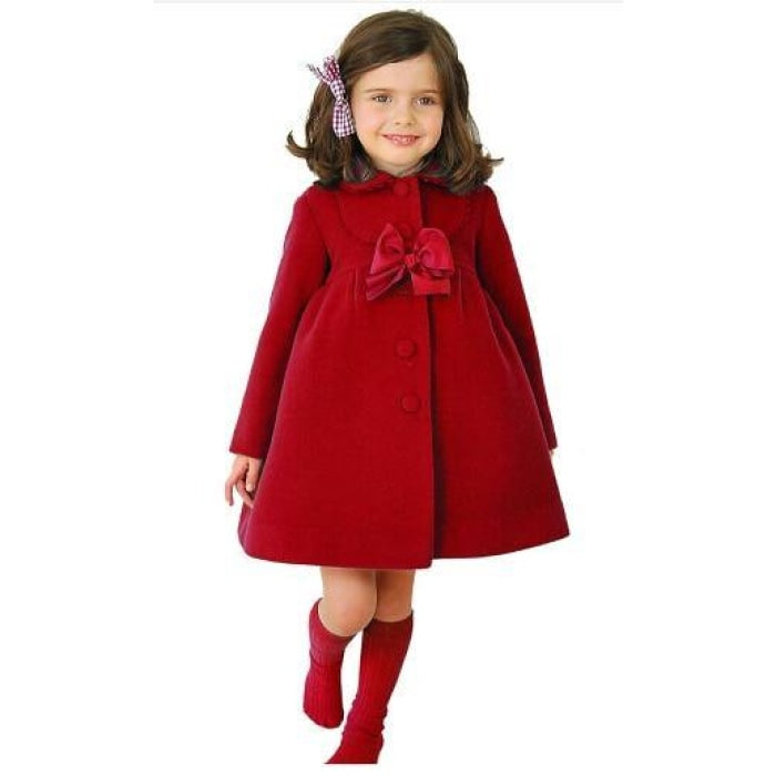 High quality Long sleeve Wool Coat for Girls