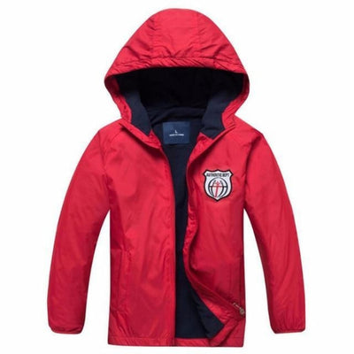 Hooded Sports Fleece Jacket for Toddlers - Red / 18-24 months