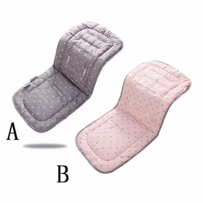 Infants Comfortable Soft Cotton Cart Mat for Strollers & Pushchairs - Pink gray cross