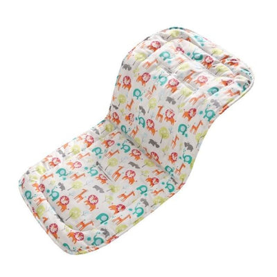 Infants Comfortable Soft Cotton Cart Mat for Strollers & Pushchairs - Zoo