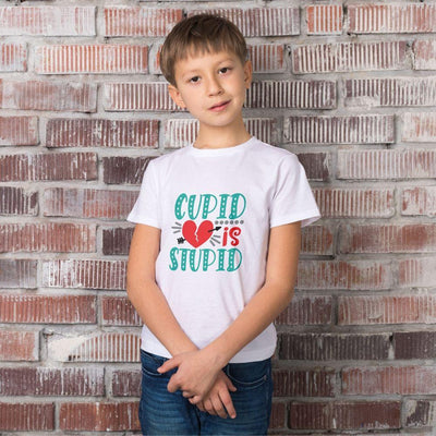 Kids Valentine T Shirt Cupid is Stupid