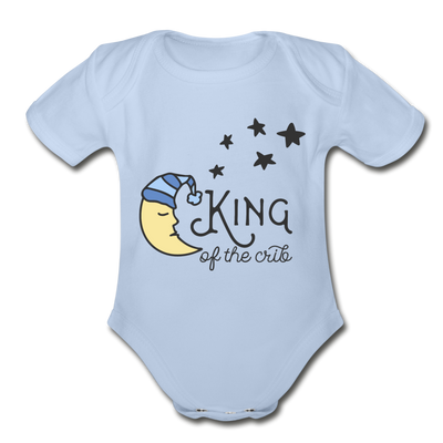 King of Crib Funny Baby Onesie Unisex - sky