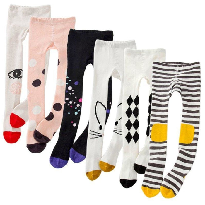 Knitted Cartoon Print Cotton Pantyhose/Tights
