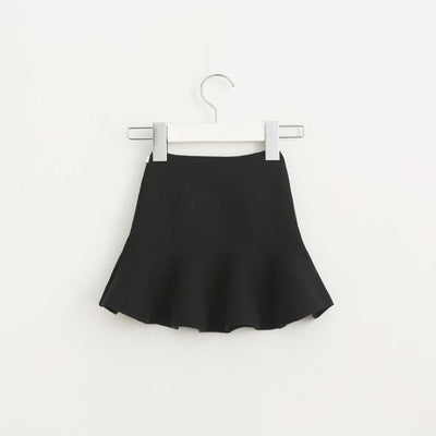 Knitted Winter Elastic Waist Tutu Skirts for Girls - Black 1 / 18-24 months