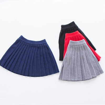 Knitted Winter Elastic Waist Tutu Skirts for Girls