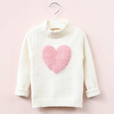 Lovable Cute Sweater for Toddler Girls - White / 7-8 years