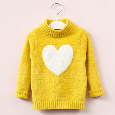 Lovable Cute Sweater for Toddler Girls - Yellow / 4-5 years
