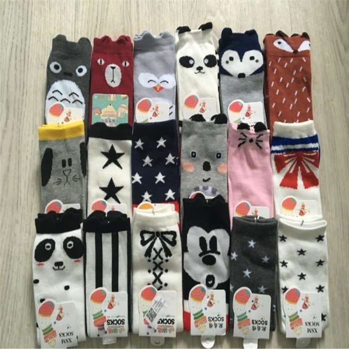 Lovely Bow-Knot Ankle Bubble Mouth Cotton Socks Leg Warmers for Baby Boys Girls