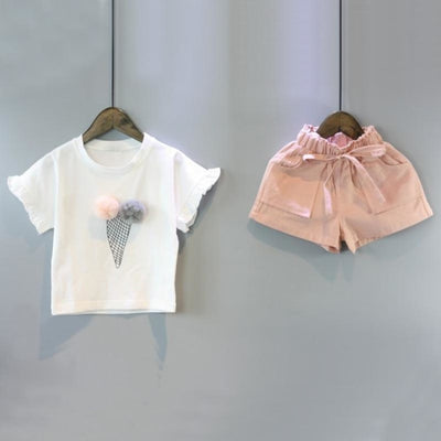 Lovely Ice cream Cone 2pc Clothing set for Girls
