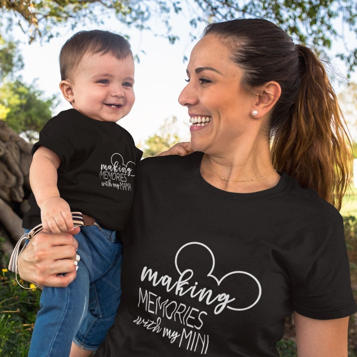 Making Memories with Mama Matching Shirts Onesie for Mom Baby - 18-24 months Kid Shirt / Black