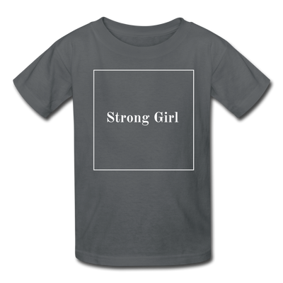 Matching Mommy & Me Strong Woman T-Shirt - charcoal / Kid 2-3 years
