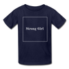 Matching Mommy & Me Strong Woman T-Shirt - navy / Kid 2-3 years