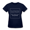 Matching Mommy & Me Strong Woman T-Shirt - navy