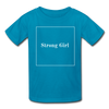 Matching Mommy & Me Strong Woman T-Shirt - turquoise / Kid 9-10 years