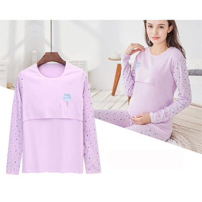 Maternity & Breastfeeding Undershirts with Long Sleeves