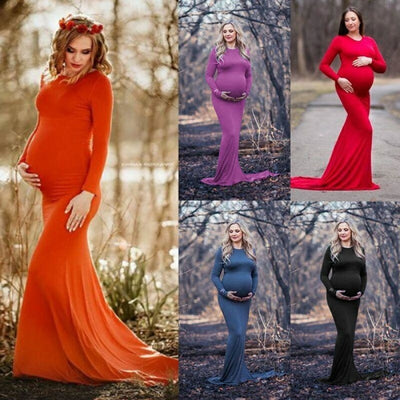 Maternity Maxi Gown Dresses For Photography