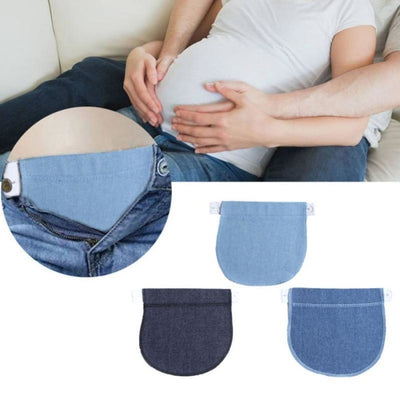 Maternity Soft Adjustable Pants Extension with Buckle Button for Lengthening