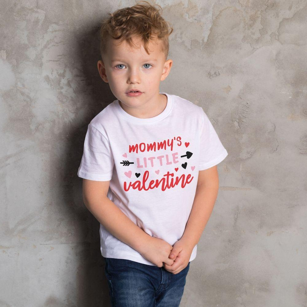 Mommy's Little Valentine T Shirt for Toddler Boys